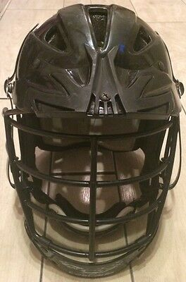 Cascade Black Lacrosse Lax Helmet Clh2 With Spr Fit Adjustable Size Small Medium