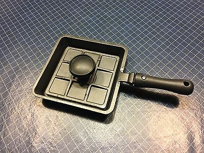 Sandwich Grill Cast Iron Skillet Panini Press Mini Serve Griddle Camping Fry Pan