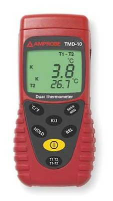 Thermocouple Thermometer,2 In,Type J, K AMPROBE TMD-10