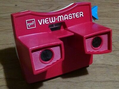 Viewmaster Model G Viewer Red White Blue