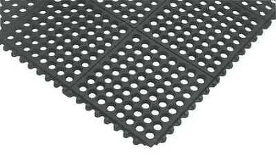 Interlock Drainage Mat,Black,3 ft.x5 ft. NOTRAX 550S0035BL