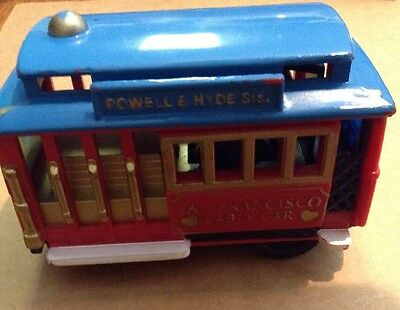 SNCO San Francisco Friction Powered Cable Car Powell & Hyde Sts. Toy Vehicle
