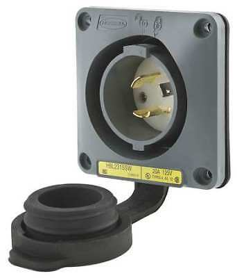 HUBBELL WIRING DEVICE-KELLEMS HBL2315SW 20A Watertight Flanged Twist-Lock Inlet