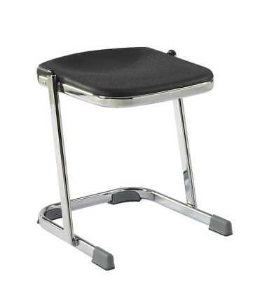 Black Square Stool, 6618, National Public Seating