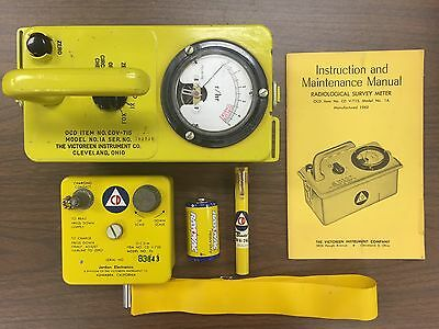 Cdv-715 Radiation Geiger Counter Kit With Cdv-750 Charger And Pen