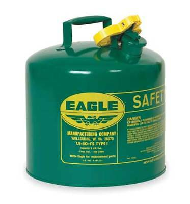 Type I Safety Can,5 gal,Green,13-1/2In EAGLE UI-50-SG