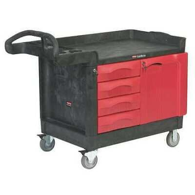 Trade Cart/Service Bench,49 In. L,Black RUBBERMAID FG453388BLA