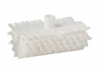 TOUGH GUY 2KVF6 Scrub Brush, White, Nylon,