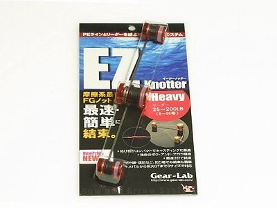 Gear-Lab EZ knotter Heavy type FG Knot (Leader 25~200lb) Clear Red JAPAN