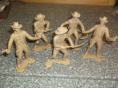 "Louis Marx Western Characters 6"". Group of 5"