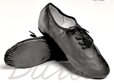 NEW Black Lace-Up JAZZ Shoes- Adult Size 4