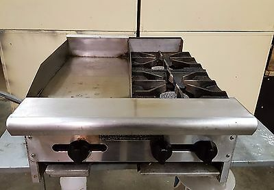 Counter Top American Range 24 inch Commercial Range, 12 inch Griddle & 2 burners