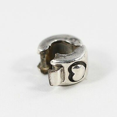 chamilia / sterling heart lock (opens!) bead / charm