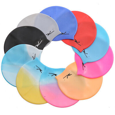 Flexible Silicone Swimming Cap Bathing Hats Waterproof Adult Durable Elasticity