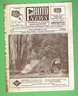 #T67. AUSTRALIAN PHOTO NEWS  MAGAZINE, SEPTEMBER 21st 1951
