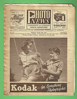 #T67. AUSTRALIAN PHOTO NEWS  MAGAZINE, JUNE 16th 1950