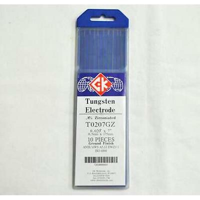 "CK T0207GZ .8% Zirconiated Tungsten Electrode .020"" X 7"" Pack of 10"