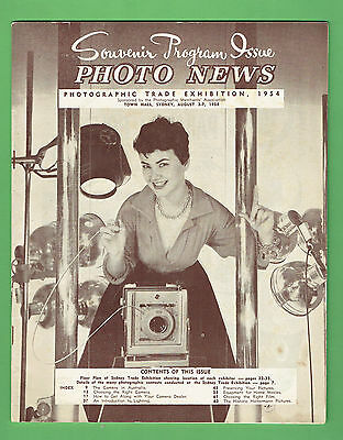 #t67. Australian Photo News  Magazine, 1954 Exhibition Souvenir Issue