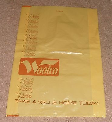 Vintage & Rare Woolco Department Store Plastic Bag