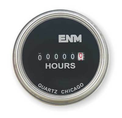 ENM T40A4507 Hour Meter, Electrical, Steel 2.31In, Round