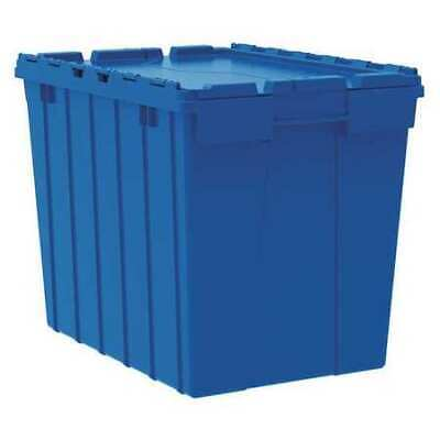 AKRO-MILS 39170BLUE Attached Lid Container, 2.28 cu. ft., Blue