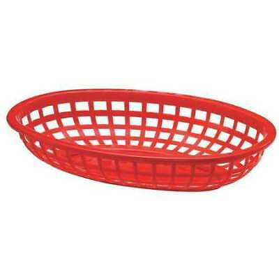 TABLECRAFT PRODUCTS COMPANY 1074R Classic Basket, Oval, Red, PK 36