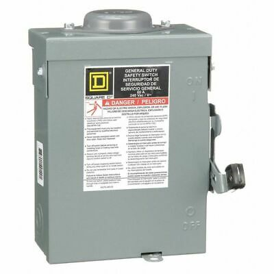 Square D 60 Amp 240VAC Single Throw Safety Switch 2P, DU222RB