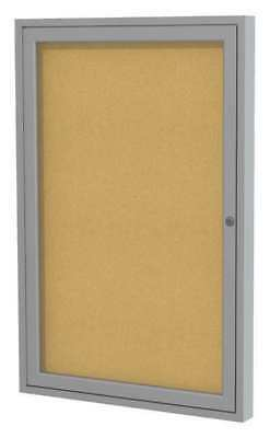 Ghent Pa13624k Enclosed Bulletin Board, Cork, 36X24 In.