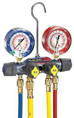 Mechanical Manifold Gauge Set,4-Valve YELLOW JACKET 49968