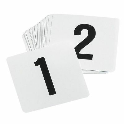 TABLECRAFT PRODUCTS COMPANY TN50 Number Card Set, 1-50,Plastic,White,PK50
