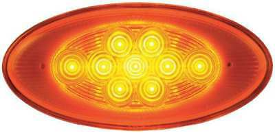 MAXXIMA M63122Y Side Turn/Side Marker,Oval,Amber