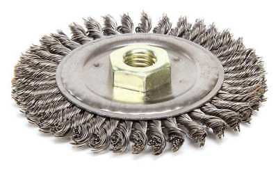 "Weiler Wire Wheel Wire Brush, 4-1/2"", 3/16"" W, 13232"