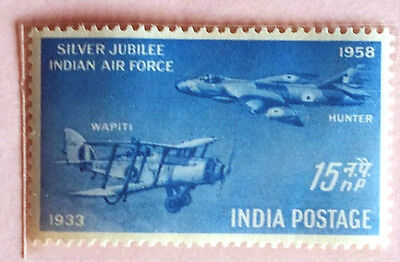 110. India 1958 Stamp Silver Jubilee Indian Air Force. Mlh