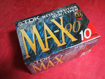 TDK MA-X 90. NEW SEALED box of 10 - blank Metal cassette iv