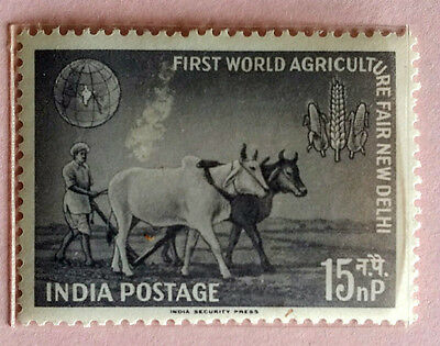 110. India 1959  Stamp First World Agriculture Fair. Mlh