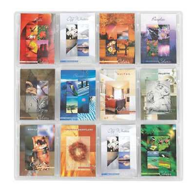 "Safco Booklet Display 12 Compartments, 30""W x 2""D Clear, 5610CL"