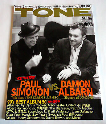 PAUL SIMONON vs DAMON ALBARN TONE MAGAZINE JAPAN 2007 Clash Blur Bowie Oasis