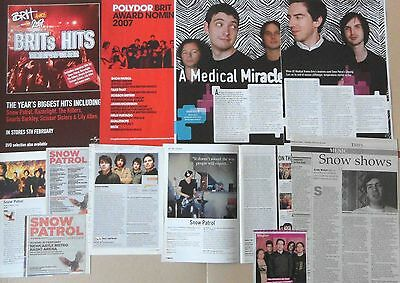 SNOW PATROL : CUTTINGS COLLECTION -interviews adverts-