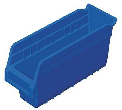 "Blue Shelf Bin, 11-5/8""L x 4-1/8""W x 6""H AKRO-MILS 30040BLUE"