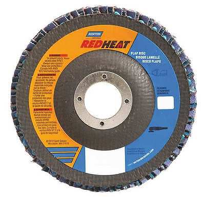 NORTON 63642504331 Flap Disc, 4 1/2 In x 60 Grit, 7/8