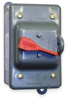 HUBBELL WIRING DEVICE-KELLEMS HBL13R22D Manual Motor Switch,30A,600VAC,2P