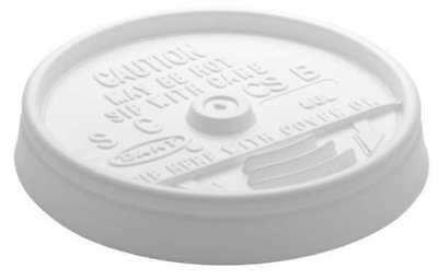Sip Thru Cold/Hot Cup Lid, White ,Dart, 8UL