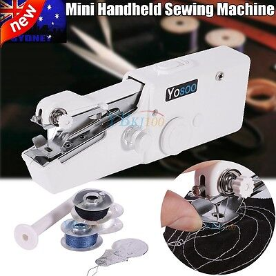 Mini Portable Handheld Sewing Machine hand held Stitch Home Clothes Cordless AU