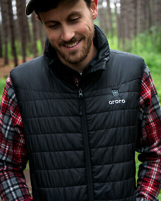 ORORO Men Heated Down Vest Motorcycle Hunting Hiking Mobile Winter Moto Jackets