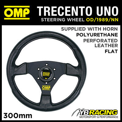 OD/1989/NN OMP TRECENTO UNO SPORTS STEERING WHEEL 300mm in BLACK POLYURETHANE