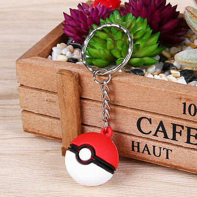 Pokemon Go Poke Ball Happy Jump Metal Key Chain Ring Keyring Keychain Gift 3cm