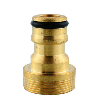 Durable Brass Threaded Water Pipe Connector Tap Adaptor Fitting Garden
