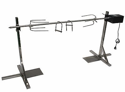 BBQ Charcoal Lamb Hog Roast Rotisserie Spit Set - Up to 40kg
