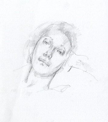 Julian Gordon Mitchell - Contemporary Graphite Drawing, Study of a Woman