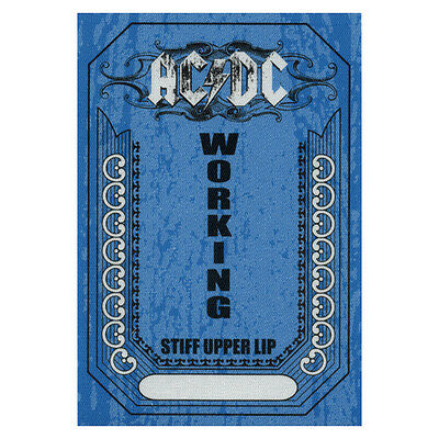 AC/DC authentic Working 2000-2001 tour Backstage Pass